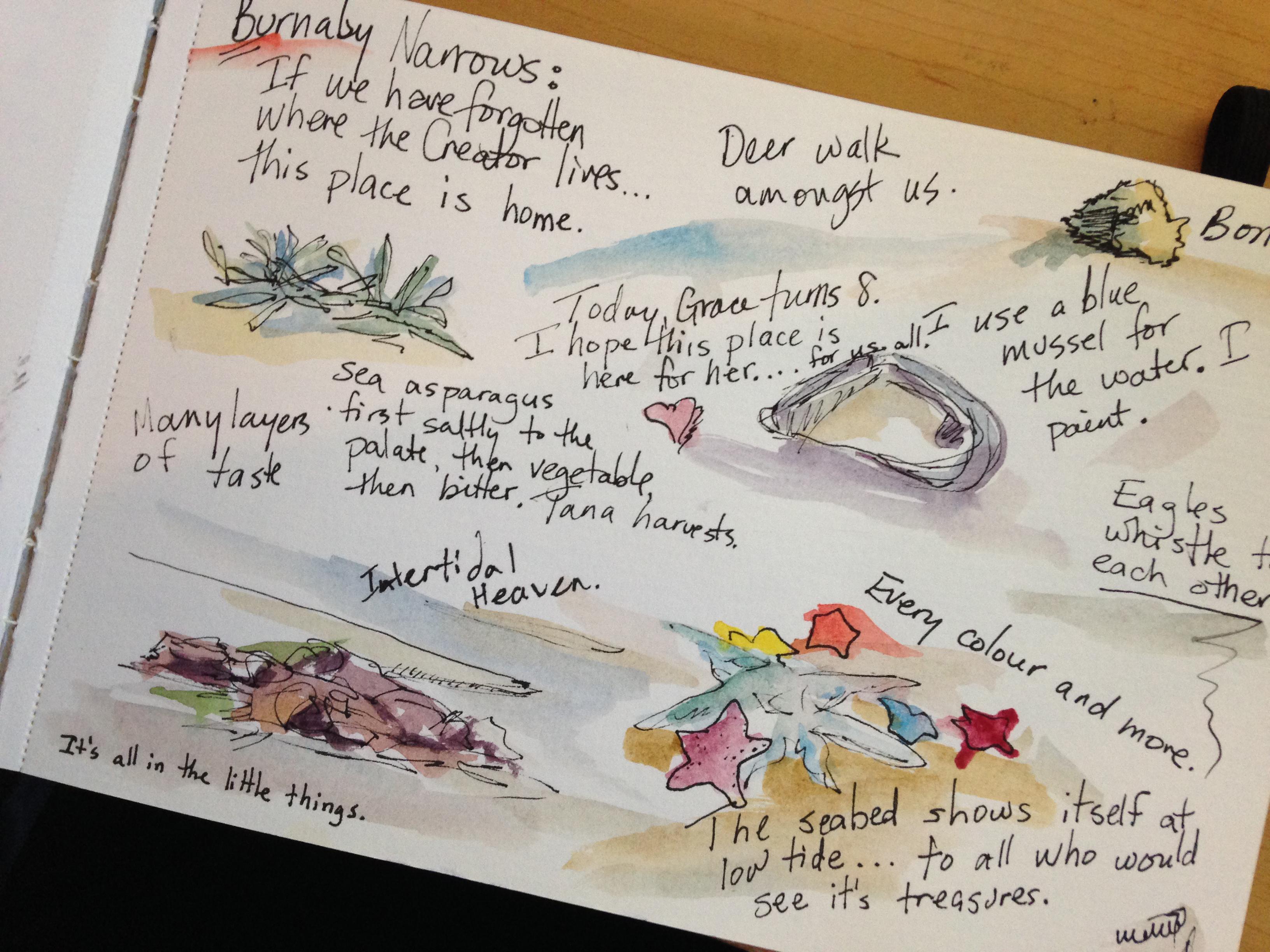 Janice Tanton sketch journal - Haida Gwaii, Burnaby Narrows